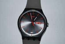 2010 Swatch Watch SUOM-702 WARM REBEL New Gents Swiss Quartz Unisex Big Modern
