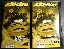 2000 SKI-DOO SNOWMOBILE CK3 SERIES OPERATOR MANUAL NEW  P/N 484 100 011  (297)