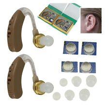 Pair of Digital Hearing Aid Aids Kit Behind the Ear BTE Sound Voice Amplifier