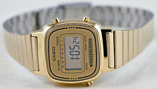 Casio LA-670WGA-9 Ladies Watch Gold Steel Band Digital Classic Vintage New