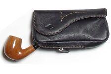 Borsa per pipa e tabacco Brebbia in cuoio di Bufalo all'anilina - Nero