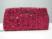 Victoria's Secret LIMITED EDITION HOT PINK SEQUIN CLUTCH - PURSE  ~NEW WITH TAG