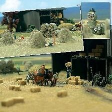 HO 1:87 Busch HAY BALE and ROLLS : Farm and Field DETAIL SCENERY KIT # 1212