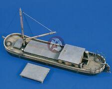 Verlinden 1/35 Small River Barge (Flat-bottomed SP Boat) with FlaK Platform 1679