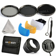 Pro 52mm ND2 4 8 Filter Kit for Nikon D7000 D5200 D5100 D3200 D3100 18-55mm Lens