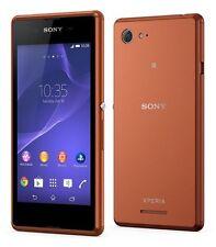 Sony XPERIA e3 COPPER MARRONE d2203 LTE Smartphone Android WiFi Senza SIM-lock NUOVO