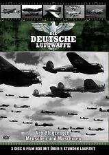DIE DEUTSCHE LUFTWAFFE Geschichte BF109 JU87 Stuka 2. Weltkrieg 3 DVD Box Neu