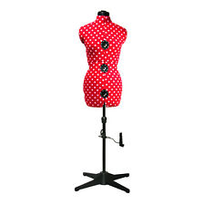 NEW | Adjustoform Red Polka Dot 8-Part Adjustable Dressmaker's Dummy UK 10-16