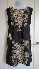 J Crew Mirabel Dress Ivory Gray Floral Embroidered Cotton Cap Sleeve Size 10