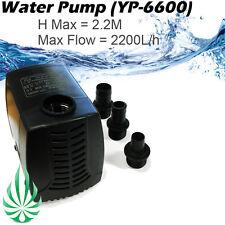 2200L Per Hour Water Pump Fo Hydroponics Aquarium Water Feature Fountain MH=2.2M