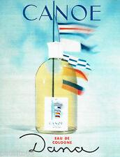 PUBLICITE ADVERTISING 056  1964  Eau de Cologne Canoe de Dana