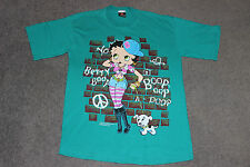 Mens XL Vtg 90s YO BETTY BOOP Cartoon Hip Hop Graffiti T-Shirt