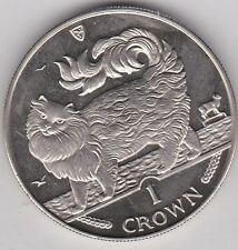 1993 ISLE OF MAN MAINE COON CAT BASE METAL CROWN IN MINT CONDITION