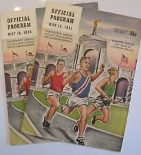 1951 (2) Official Program 11th LA COLISEUM RELAYS & ALLCITY TRACK CHAMPIONSHIP *
