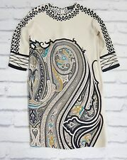 Retro Fabulous: Etro Heavy Cream Silk Paisley Print Tunic Dress IT38/UK10