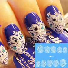 1 sheet French Nail Art Water Decals Sticker Paon Plume Ongle décoration