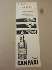 ADVERTISING PUBBLICITA' il liquore piu' gradito CORDIAL CAMPARI   --  1958