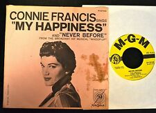 PICTURE SLEEVE Connie Francis MGM 12738 Never Before and My Happiness