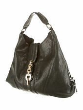 NW AUTH ROBERTO CAVALLI HOBO BAG GOLD TONE BUCKLE BLK LEATH RET$1750 BARGAIN WOW