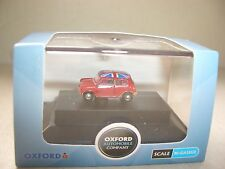Oxford NMN001 MN001 N Gauge 1/148 Scale Austin Morris Mini Tartan Red Union Jack