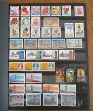 New Zealand stamp collection in stock book, 100 plus sets, Tokelau, Niue, MNH