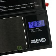 NEW Pocket 100g x 0.01g Digital Jewelry Gold Gram Balance Weight Scale US Seller
