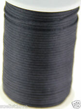 2MM black Satin Cord Macrame Beading Nylon kumihimo String DIY 10ya
