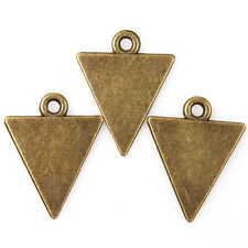 50pcs 145069 Hotsale Bronze Tone Smooth Inverted Triangle Charms Alloy Pendants