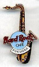 Hard Rock Cafe FUKUOKA 2000 Gold Saxophone SAX PIN 2508