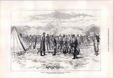 1876 Serbian War Russian Officers Joining Army At Greovatz