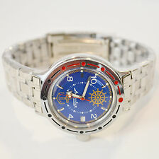 New VOSTOK Russian Amphibian 200m Diver Automatic Mens Watch #420374- US SELLER