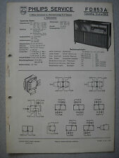 PHILIPS fd853a Capella CASSAPANCA 853 SERVICE MANUAL Edizione 12/55
