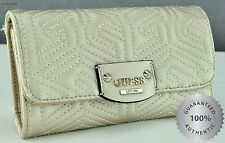 New Stylish 100% Original Wallet GUESS G Cube Quilt GUESS Slg Gold Ladies