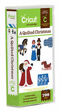 CRICUT *A QUILTED CHRISTMAS* CARTRDIGE *NEW* SANTA, NATIVITY, CARDS, CAROLERS...