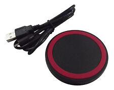 Super thin + light Red Wireless charging circle pad QI Samsung HTC Iphones LG +