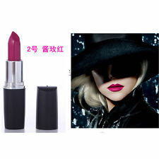 1pc Dark Purple Makeup Matte Velvet Lipstick Long Lasting Lip Gloss HOT
