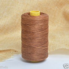 New Brown 100m/109yards Flat Leather Sewing Waxed Thread For AWL Shoes Bag Craft