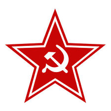 USSR CCCP SSSR Star Funny Car Window Bumper Fridge Wall Vinyl Decal Sticker Red