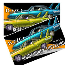 1970 Plymouth Roadrunner Superbird Decals Pack Of Two