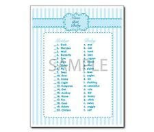 Blue Baby Boy Set of 8 Printable Shower Games
