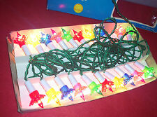 20 Vintage Christmas lights. Petal design