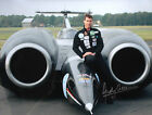 ANDY GREEN - LAND SPEED RECORD HOLDER - STUNNING LARGE SIGNED COLOUR PHOTOGRAPH