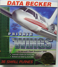 PRIVATE WINGS ADD ON FOR MICROSOFT FLIGHT SIM 2000 FACTORY SEALED RETAIL BOX