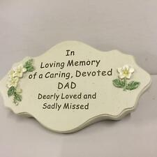 New OVAL GRAVE GRAVESIDE PLAQUE MEMORIAL In Loving Memory of Caring, Devoted DAD