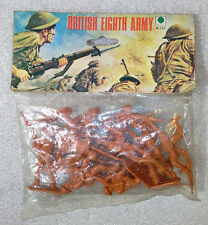 Old Vintage Plastic Soldiers ✱ BRITISH EIGHT ARMY ✱ Ri Toys Hong Kong No Airfix