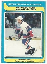 1979-80 OPC HOCKEY #165 BRYAN TROTTIER RECORD BREAKER - GOOD+/VG-