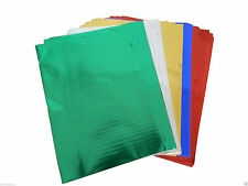 Metallic foil (Shiny) paper sheets pack of 40 assorted colours 29.5cm x 21cm