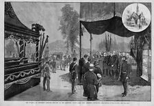 CASKET COFFIN CEMETERY FUNERAL OF PRESIDENT GARFIELD SERVICES AT RECEIVING VAULT