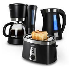 MORNING BREAKFAST KITCHEN SET BUNDLE BLACK TOASTER KETTLE COFFE MACHINE MAKER