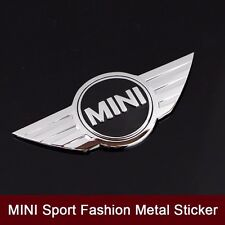 3D Metal Chrome MINI COOPERS Front Hood Rear Badge Emblem Logo Sticker 115X50mm